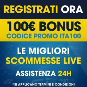 Bonus scommesse 100 euro William Hill