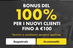 Bet365 Bonus benvenuto scommesse €100