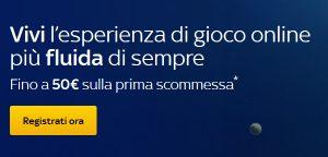 Sky Bet bonus scommesse 50€