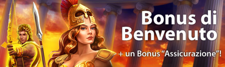 Bonus Benvenuto Casino.com: 500€ + assicurazione