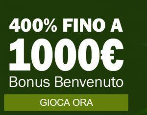 Bonus Benvenuto TitanBet Casinò 400% fino a 1000€