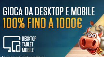 Bonus di benvenuto NetBet Casino fino 1000€