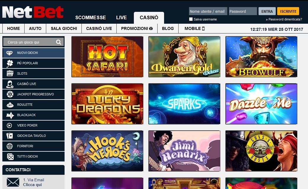 Migliori giochi casino online