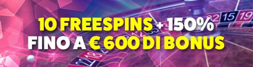 LeoVegas Bonus benvenuto Casinò fino 600€